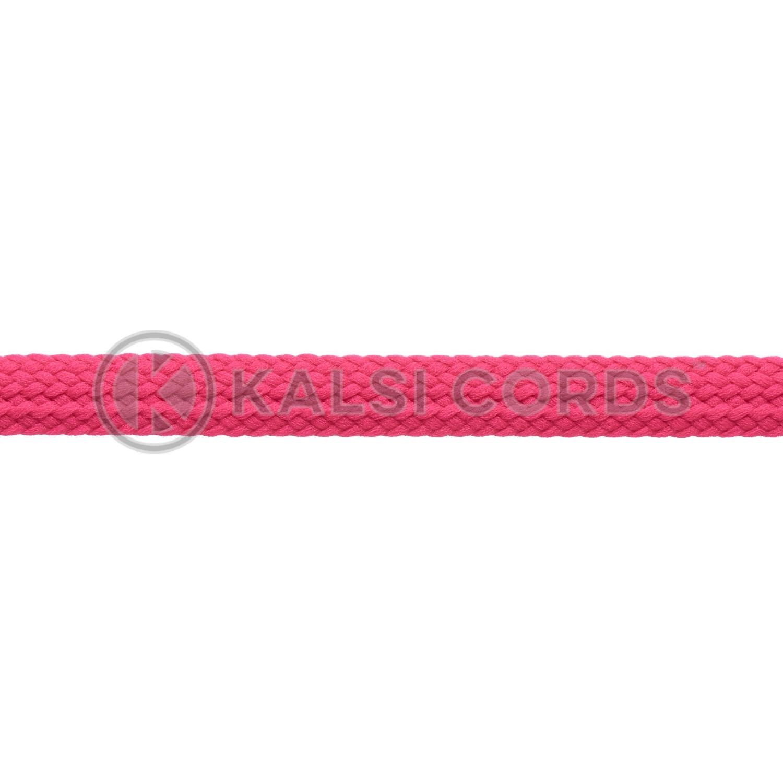 R1176 9mm Flat Tubular Shoe Laces Cerise Pink 3 Kalsi Cords