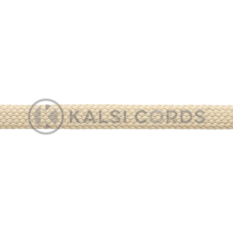 R1176 9mm Flat Tubular Shoe Laces Cream 3 Kalsi Cords