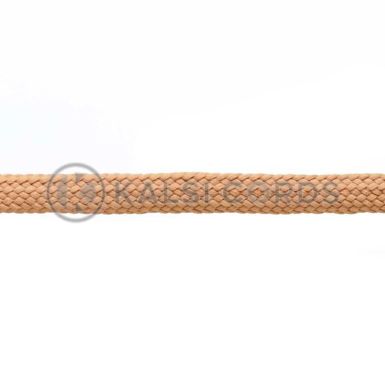R1176 9mm Flat Tubular Shoe Laces Dark Beige 3 Kalsi Cords