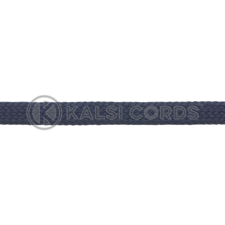 R1176 9mm Flat Tubular Shoe Laces Dark Navy 3 Kalsi Cords
