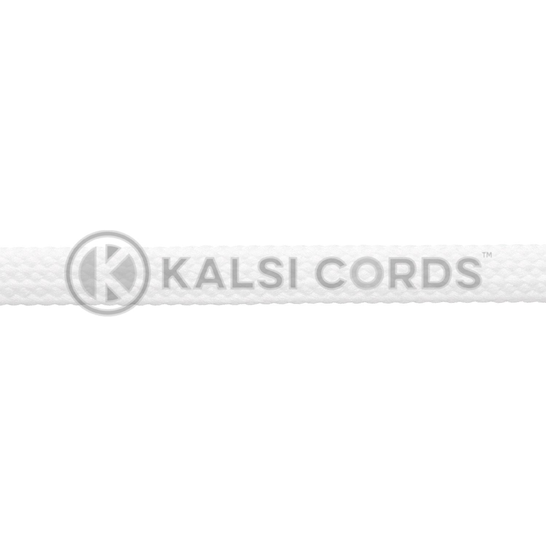 R1176 9mm Flat Tubular Shoe Laces Ecru off white 3 Kalsi Cords