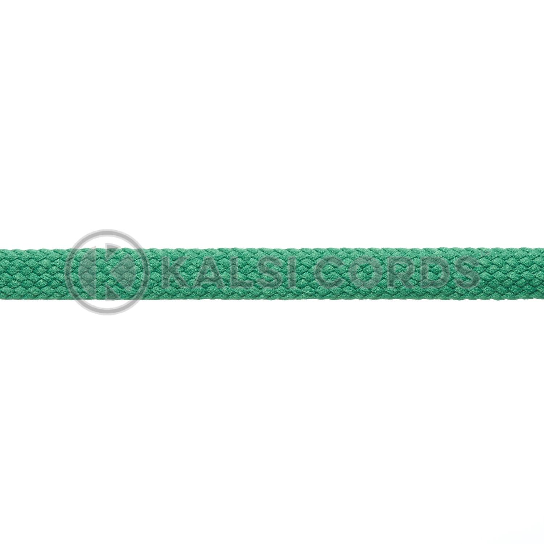 R1176 9mm Flat Tubular Shoe Laces Emerald Green 3 Kalsi Cords