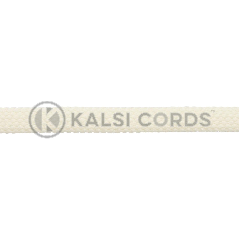 R1176 9mm Flat Tubular Shoe Laces Ermine 3 Kalsi Cords