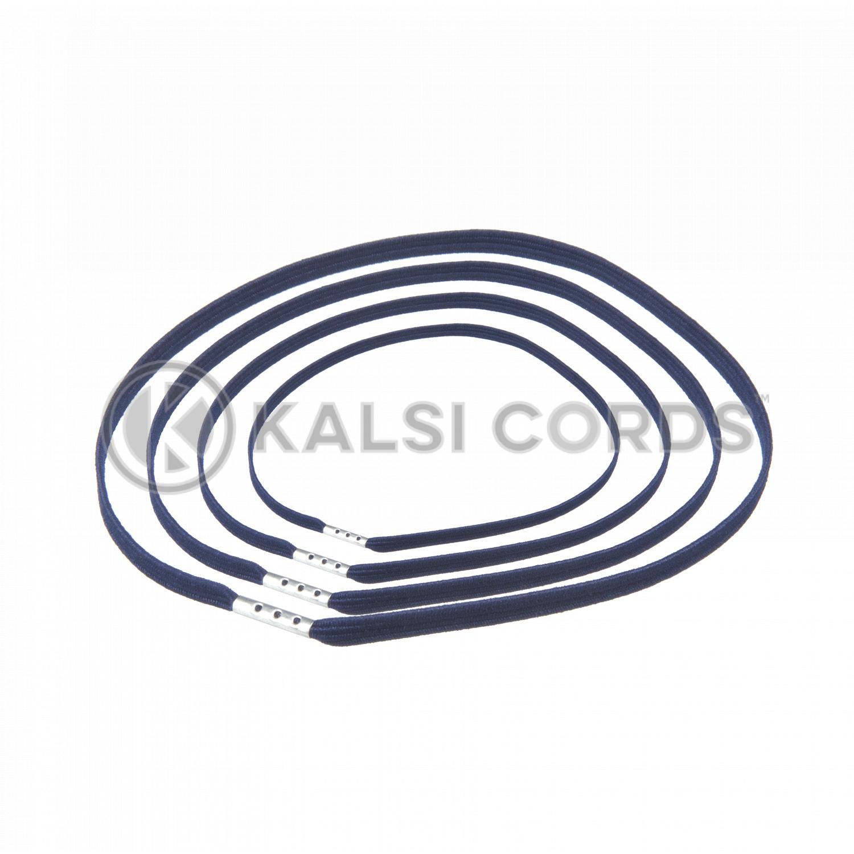 4mm Flat Elastic Menu Loop Dark Navy ML TPE142 DK.NVY 1 Kalsi Cords v2