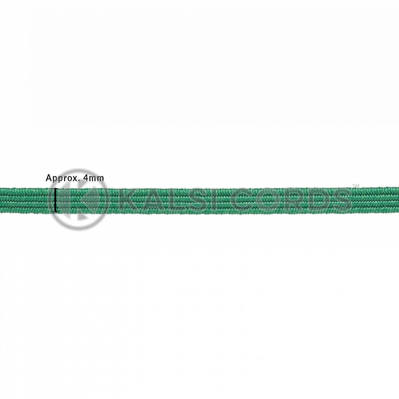 4mm Flat Elastic Menu Loop Emerald Green ML TPE142 EM.GRN Edit 2 Kalsi Cords
