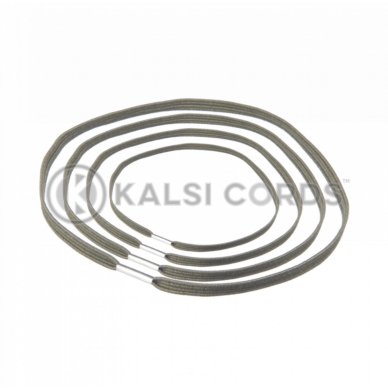 4mm Flat Elastic Menu Loop Khaki ML TPE142 KHAKI 1 Kalsi Cords v2