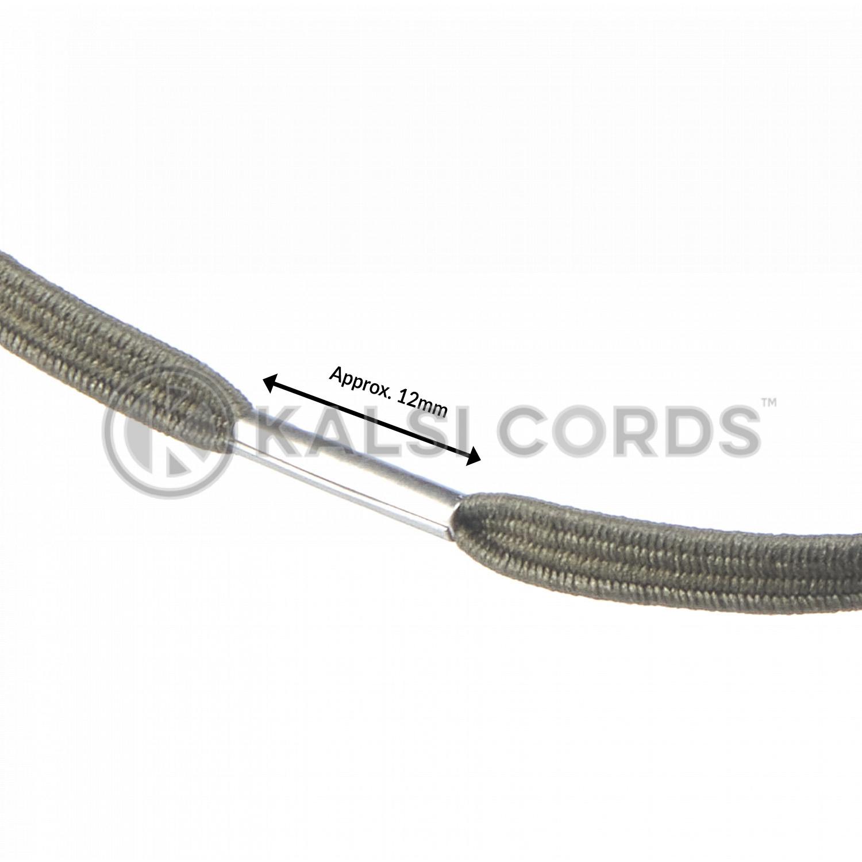 4mm Flat Elastic Menu Loop Khaki ML TPE142 KHAKI Edit 3 Kalsi Cords
