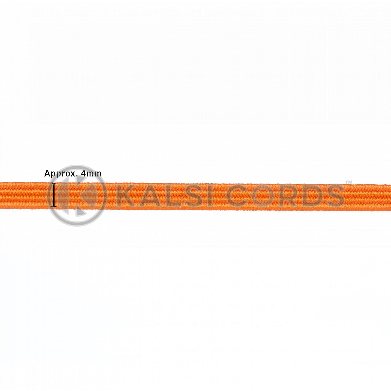 4mm Flat Elastic Menu Loop Orange ML TPE142 ORG Edit 2 Kalsi Cords