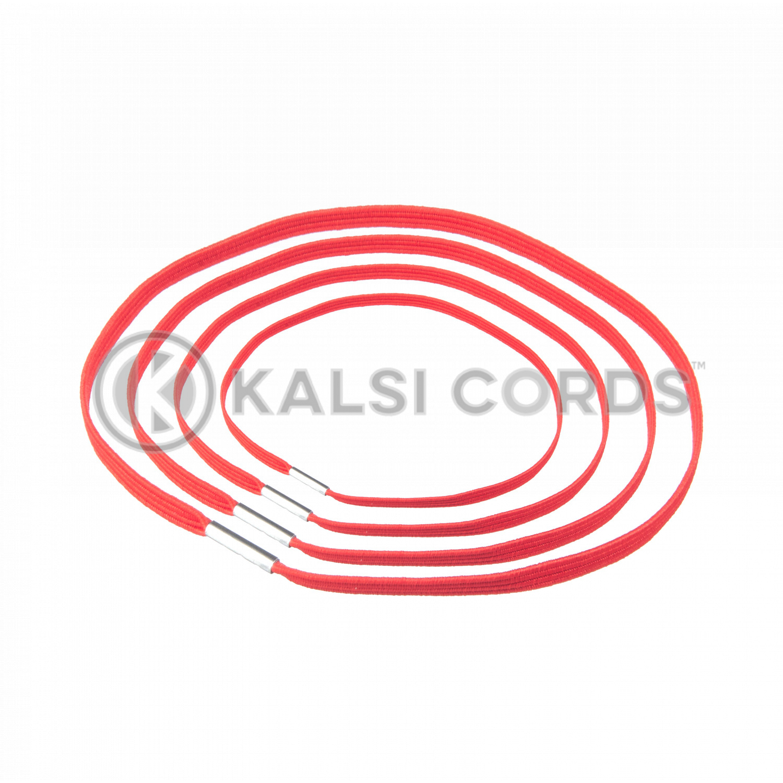 4mm Flat Elastic Menu Loop Rose Madder Red ML TPE142 RMDR 1 Kalsi Cords v2