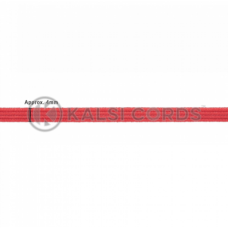 4mm Flat Elastic Menu Loop Rose Madder Red ML TPE142 RMDR Edit 2 Kalsi Cords
