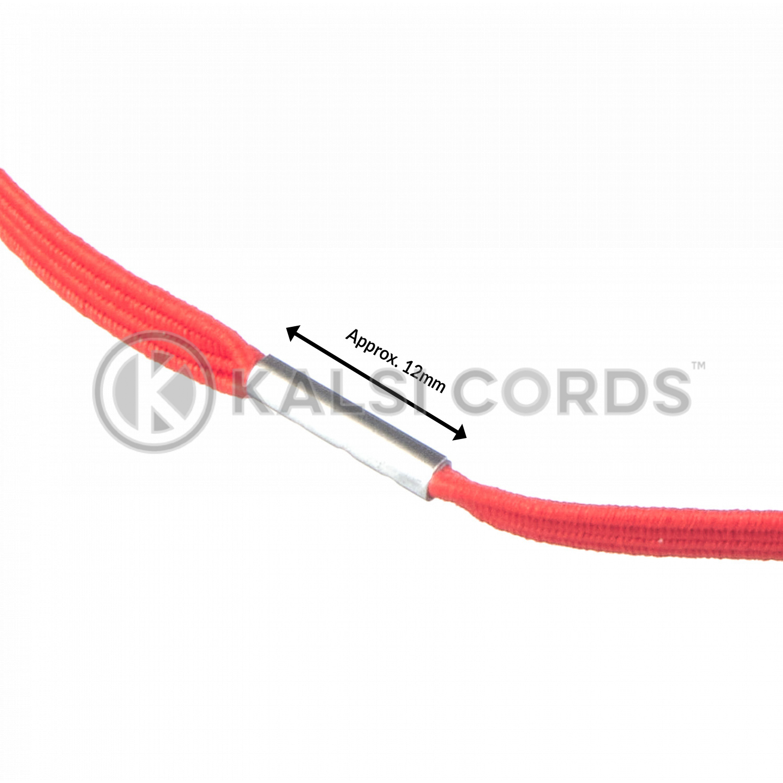4mm Flat Elastic Menu Loop Rose Madder Red ML TPE142 RMDR Edit 3 Kalsi Cords