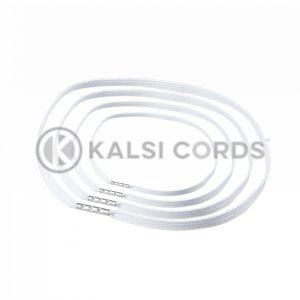 4mm Flat Elastic Menu Loop White ML TPE142 ECRU 1 Kalsi Cords v2