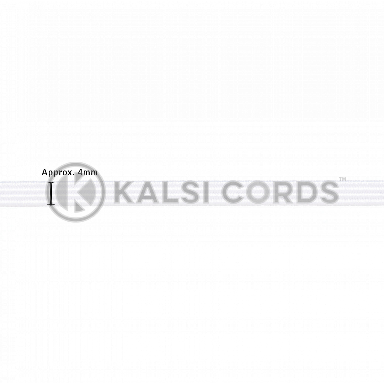 4mm Flat Elastic Menu Loop White ML TPE142 ECRU Edit 2 Kalsi Cords