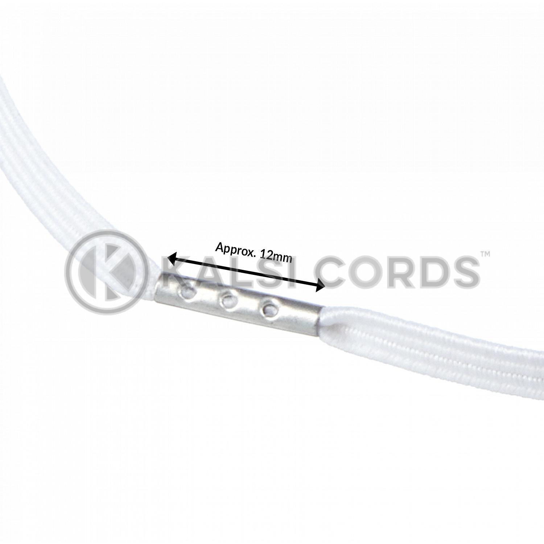 4mm Flat Elastic Menu Loop White ML TPE142 ECRU Edit 3 Kalsi Cords
