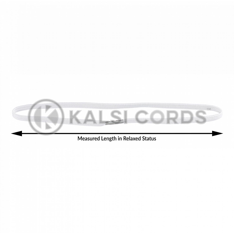 4mm Flat Elastic Menu Loop White ML TPE142 ECRU Edit 4 Kalsi Cords