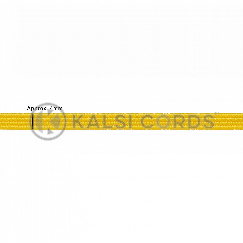 4mm Flat Elastic Menu Loop Yellow ML TPE142 YELL Edit 2 Kalsi Cords