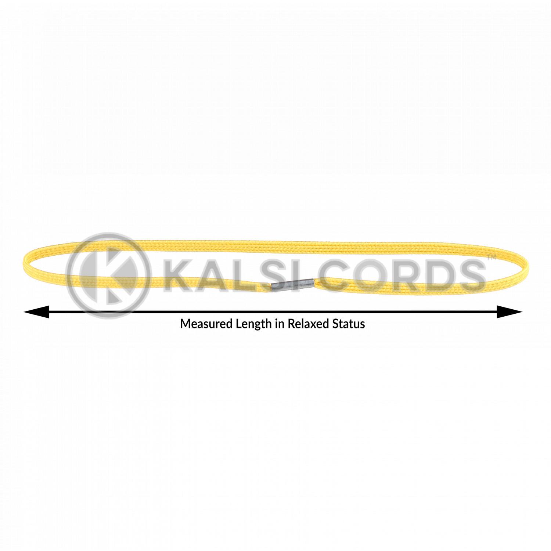 4mm Flat Elastic Menu Loop Yellow ML TPE142 YELL Edit 4 Kalsi Cords