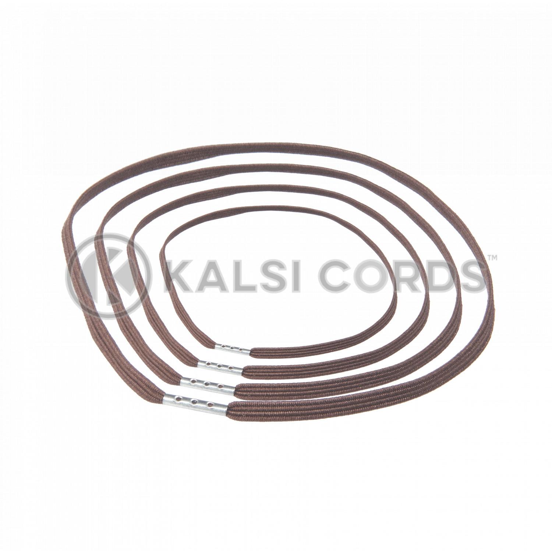 4mm Flat Elastic Menu Loop York Brown ML TPE142 YK.BRN 1 Kalsi Cords v2